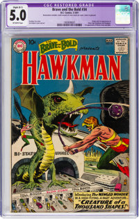 The Brave and the Bold #34 Hawkman (DC, 1961) CGC Apparent Slight (B-1) VG/FN 5.0 Off-white pages