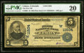 National Bank Notes:Colorado, Limon, CO - $5 1902 Plain Back Fr. 606 The First NB Ch. # (W)11504 PMG Very Fine 20.. ...