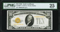 Small Size:Gold Certificates, Fr. 2400* $10 1928 Gold Certificate Star. PMG Very Fine 25.. ...