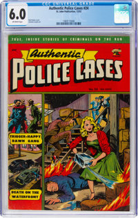 Authentic Police Cases #24 (St. John, 1952) CGC FN 6.0 Off-white pages