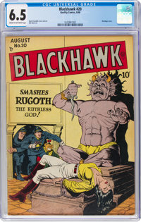 Blackhawk #20 (Quality, 1948) CGC FN+ 6.5 Cream to off-white pages