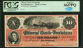 Obsoletes By State:Louisiana, New Orleans, LA- Citizens' Bank of Louisiana $10 186_ G26a Remainder PCGS Gem New 66PPQ.. ...