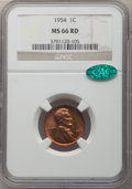 Lincoln Cents, 1954 1C MS66 Red NGC. CAC. NGC Census: (1006/27). PCGS Population: (643/7). CDN: $55 Whsle. Bid for problem-free NGC/PCGS M...