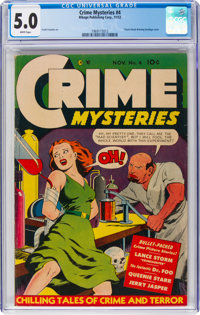 Crime Mysteries #4 (Ribage Publishing, 1952) CGC VG/FN 5.0 White pages