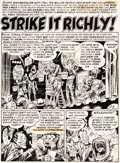Original Comic Art:Panel Pages, Jack Davis Panic #3 Story Page 1 Original Art (EC, 1954)....