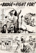 "Original Comic Art:Complete Story, Doug Wildey Wyatt Earp #17 Complete 4-Page Story ""A Badge To Fight For!"" Original Art (Marvel, 1960).... (Total: 4 Original Art)"