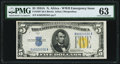 Small Size:World War II Emergency Notes, Fr. 2307 $5 1934A North Africa Silver Certificate. PMG Choice Uncirculated 63.. ...