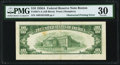 Error Notes:Obstruction Errors, Obstructed Printing on Back Error Fr. 2011-A $10 1950A Federal Reserve Note. PMG Very Fine 30.. ...