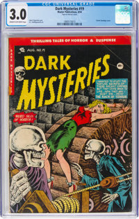 Dark Mysteries #19 (Master Publications, 1954) CGC GD/VG 3.0 Cream to off-white pages