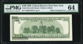 Partial Face to Back Offset Error Fr. 2175-B $100 1996 Federal Reserve Note. PMG Choice Uncirculated 64