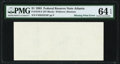 Error Notes:Blank Reverse (100%), Missing Back Printing Error Fr. 1918-F $1 1993 Federal Reserve Note. PMG Choice Uncirculated 64 EPQ.. ...