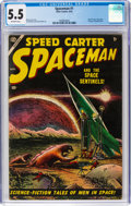 Golden Age (1938-1955):Science Fiction, Spaceman #1 (Atlas, 1953) CGC FN- 5.5 Off-white pages....