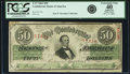 Confederate Notes:1863 Issues, T57 $50 1863 PF-1 Cr. 406/2 PCGS Apparent Extremely Fine 40.. ...