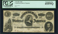 Confederate Notes:1862 Issues, T49 $100 1862 PF-2 Cr. 348 PCGS Extremely Fine 45PPQ.. ...