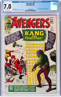 The Avengers #8 (Marvel, 1964) CGC FN/VF 7.0 Off-white pages