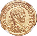 Ancients:Roman Imperial, Ancients: Diocletian (AD 284-305). AV aureus (19mm, 4.17 gm, 6h). NGC MS 5/5 - 4/5....