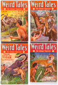 "Pulps:Horror, Weird Tales ""Tam, Son of the Tiger"" Group of 5 (Popular Fiction, 1931)Condition: VG except as noted.... (Total: 5 Items)"