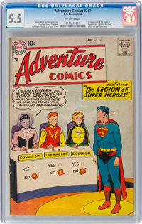 Adventure Comics #247 (DC, 1958) CGC FN- 5.5 Off-white pages
