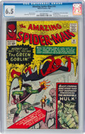 Silver Age (1956-1969):Superhero, The Amazing Spider-Man #14 (Marvel, 1964) CGC FN+ 6.5 Light tan to off-white pages....