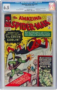 The Amazing Spider-Man #14 (Marvel, 1964) CGC FN+ 6.5 Light tan to off-white pages
