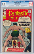 Silver Age (1956-1969):Superhero, Fantastic Four #14 (Marvel, 1963) CGC VF- 7.5 Cream to off-white pages....