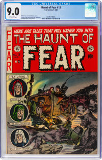Haunt of Fear #13 (EC, 1952) CGC VF/NM 9.0 Off-white pages