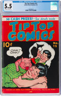 Platinum Age (1897-1937):Miscellaneous, Tip Top Comics #12 (United Feature Syndicate, 1937) CGC FN- 5.5Off-white to white pages....