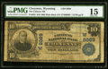 National Bank Notes:Wyoming, Cheyenne, WY - $10 1902 Plain Back Fr. 625 The Citizens NB Ch. # (W)8089 PMG Choice Fine 15.. ...