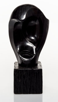 Alexandre Noll (French, 1890-1970) Untitled, 1958 Carved ebony 15-1/2 x 7-3/4 x 5-3/4 inches (39