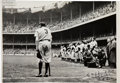 """Baseball Collectibles:Photos, 1948 """"The Babe Bows Out"""" Pulitzer Prize-Winning Original Large Photograph, Signed by Nat Fein, PSA/DNA Type 1...."""