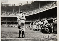 """1948 """"The Babe Bows Out"""" Pulitzer Prize-Winning Original Large Photograph, Signed by Nat Fein, PSA/DNA Type 1..."""