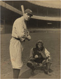 Baseball Collectibles:Photos, 1920 Babe Ruth Original Large Photograph, PSA/DNA Type 1....