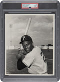 Baseball Collectibles:Photos, 1955-56 Roberto Clemente Original Photograph by Don Wingfield, PSA/DNA Type 1. ...
