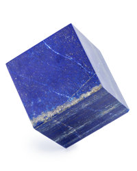 Lapis Cube Afghanistan 2.38 x 2.38 x 2.38 inches (6.05 x 6.05 x 6.05 cm)