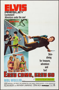 "Easy Come, Easy Go (Paramount, 1967). Flat Folded, Very Fine+. One Sheet (27"" X 41""). Elvis Presley"