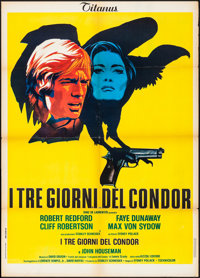 "Three Days of the Condor (Titanus, 1976). Folded, Very Fine-. Italian 2 - Fogli (39.25"" X 55.25""). Thriller..."