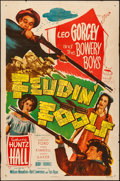 """Movie Posters:Comedy, Feudin' Fools (Monogram, 1952). Folded, Fine/Very Fine. One Sheet (27"""" X 41""""). Comedy.. ..."""