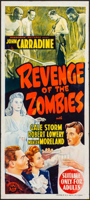 "Revenge of the Zombies (Monogram, 1943). Folded, Fine/Very Fine. Australian Daybill (13.25"" X 30""). Horror..."