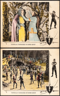 """Robin Hood (United Artists, 1922). Fine/Very Fine. Lobby Cards (2) (11"""" X 14""""). Swashbuckler. ... (Total: 2 It..."""