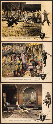 """Robin Hood (United Artists, 1922). Overall: Fine/Very Fine. Lobby Cards (3) (11"""" X 14""""). Swashbuckler. ... (To..."""