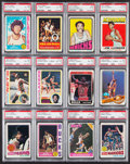 Basketball Cards:Lots, 1971-94 Basketball Stars & HoFers PSA Graded Collection (33)....