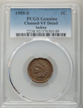 1909-S 1C -- Cleaned -- PCGS Genuine. VF Details. NGC Census: (240/2133). PCGS Population: (468/3461). CDN: $360 Whsle...