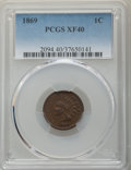 Indian Cents, 1869 1C XF40 PCGS. PCGS Population: (115/695). NGC Census: (41/447). CDN: $350 Whsle. Bid for problem-free NGC/PCGS XF40. M...