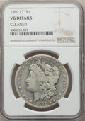 1892-CC $1 -- Cleaned -- NGC Details. VG Details. NGC Census: (127/5739). PCGS Population: (177/10379). CDN: $150 Whsle...