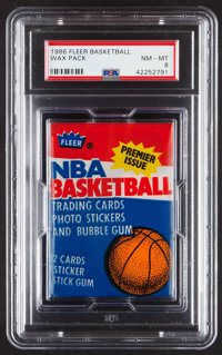 1986 Fleer Basketball Unopened Wax Pack PSA NM-MT 8