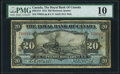 Canada Royal Bank of Canada $20 2.1.1913 Ch.# 630-12-12 PMG Very Good 10
