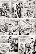 Original Comic Art:Panel Pages, Jack Kirby and Frank Giacoia Fantastic Four #97 Story Page 8 Original Art (Marvel, 1970)....