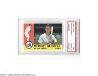 1960 Topps Mickey Mantle #350 PSA NM-MT 8. Superb centering, edges, corners. Ultra-clean!