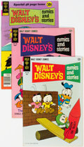 Silver Age (1956-1969):Cartoon Character, Walt Disney's Comics and Stories File Copies Group of 59 (Gold Key, 1965-79) Condition: Average NM-.... (Total: 59 )