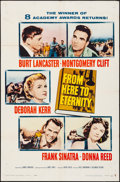 "Movie Posters:Academy Award Winners, From Here to Eternity (Columbia, R-1958). Folded, Fine/Very Fine. One Sheet (27"" X 41""). Academy Award Winners.. ..."